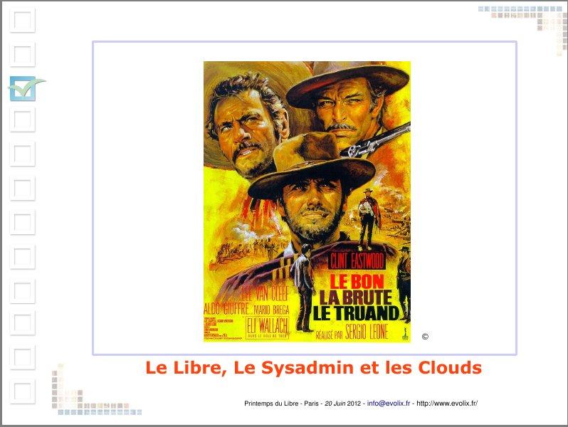 Le Libre, le SysAdmin et Les Clouds
